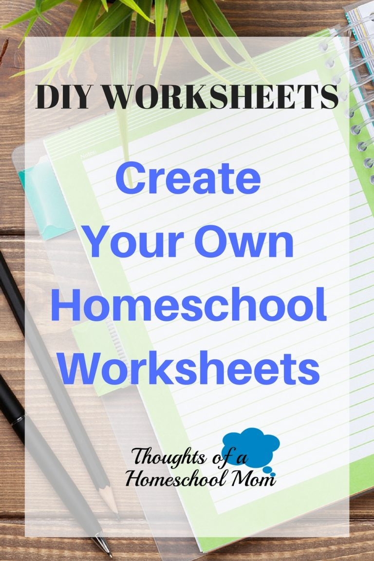Two Resources for Creating Homeschool Worksheets