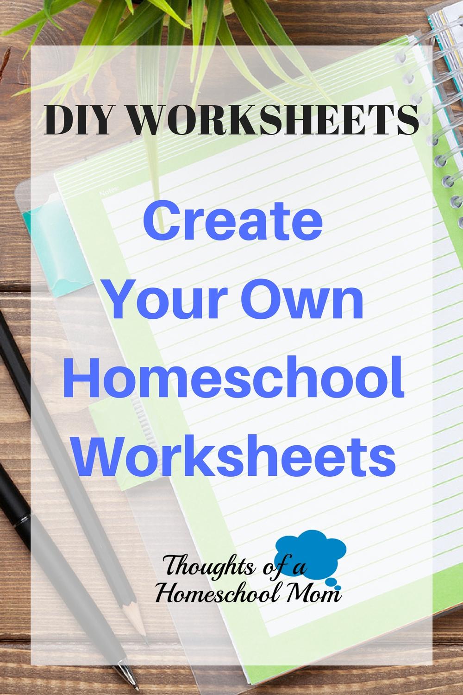 create-homeschool-worksheets