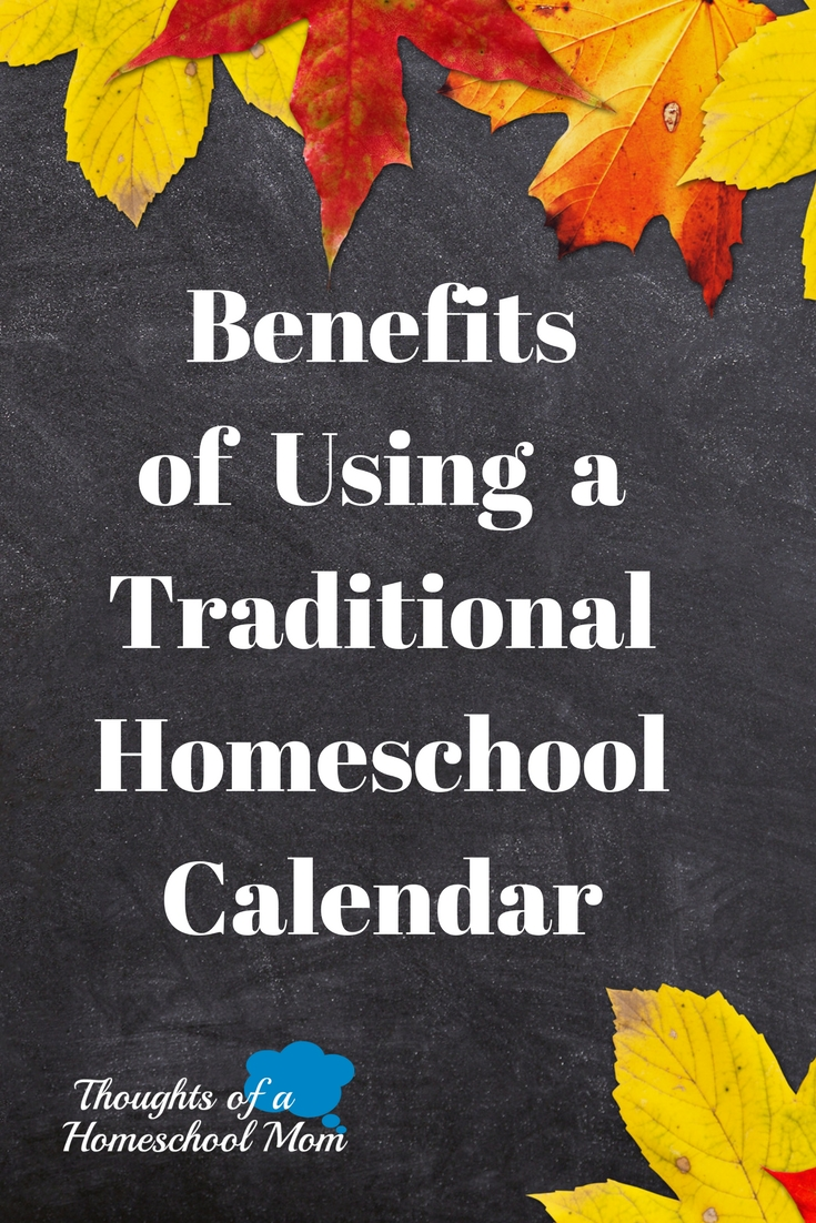 Using a traditional homeschool calendar can help you develop a simple, easy-to-follow, homeschool schedule for the year. Find out 3 benefits.